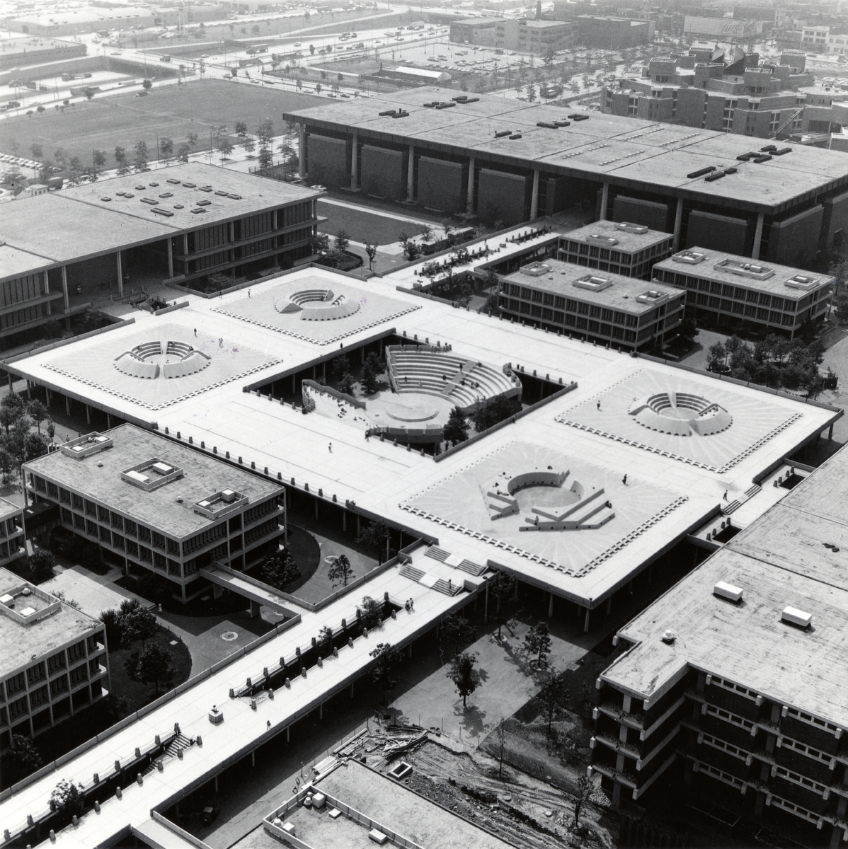 Great Court and Circle Forum, ca. 1969.